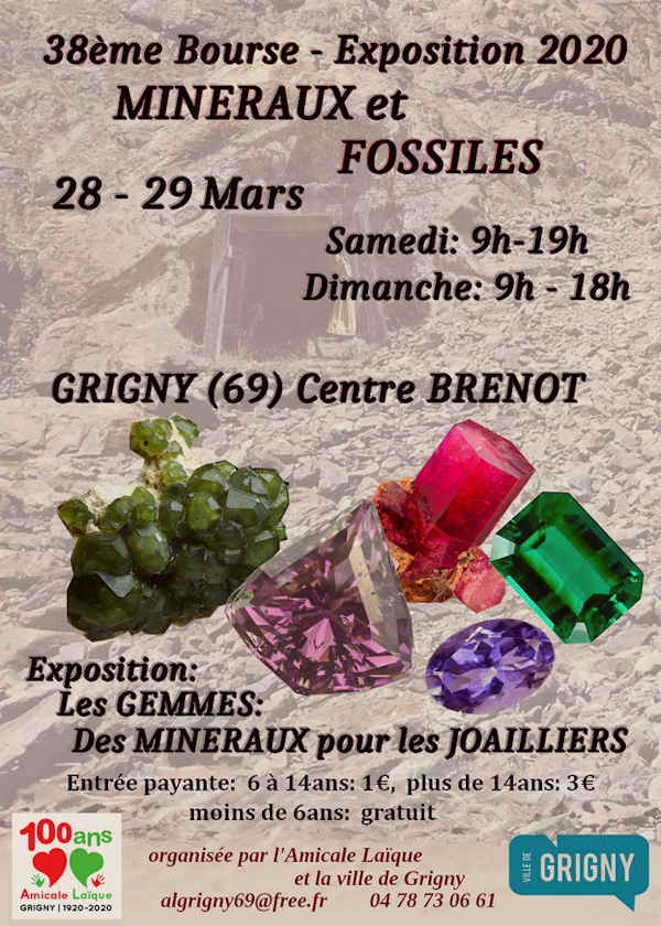 38th exhibition of minerals and fossils