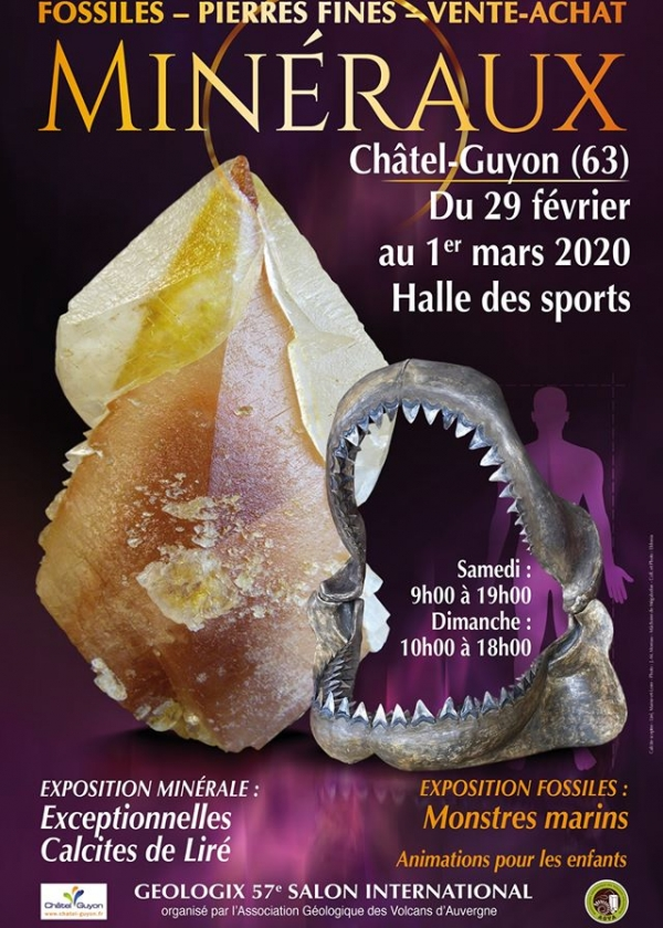 57th Géologic fair for minerals, fossils and precious stones