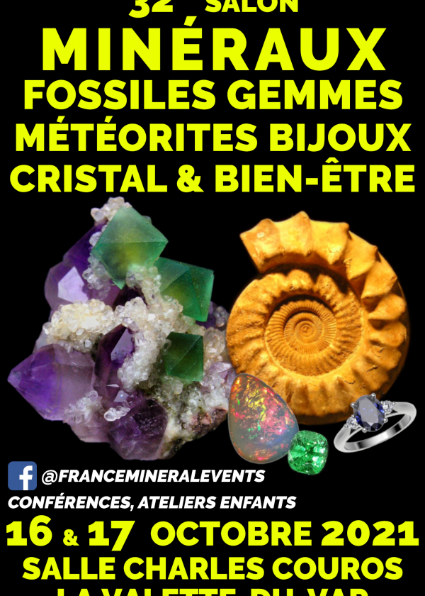 32nd Mineral Fair Event La Valette-du-Var - Minerals, Fossils, Crystal & Well-being, Gems, Jewelry