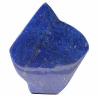 Stone block of lapis Lazuli abstract ornamental shape