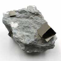 Pyrite cubes on gangue of Navajun Spain