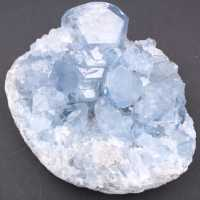 Blue celestite crystals