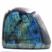 Block of labradorite with blue reflections