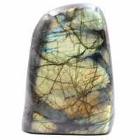 Labradorite yellow green reflections fully polished block