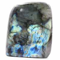 Polished blue labradorite stone