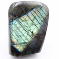 Bluish polished labradorite free form