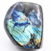 Bluish polished labradorite free form