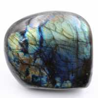 Decorative stone, polished labradorite