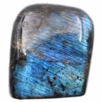 Blue colored labradorite block