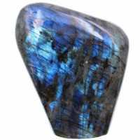 Ornamental freeform in blue labradorite