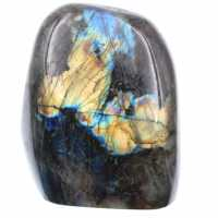 Labradorite with yellow reflections, decorative stone