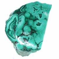 Malachite semi-polished stone
