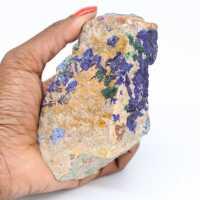Azurite and malachite on ganges