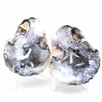 Whole coconut agate geode