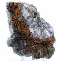 Hematite crystallization on hematite gange
