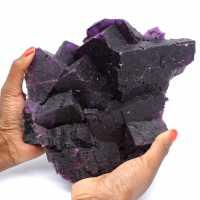 Exceptional dark purple fluorite crystallization
