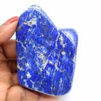Polished lapis lazuli stone