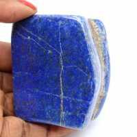 Polished natural lapis lazuli