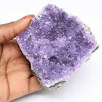 Natural amethyst crystals