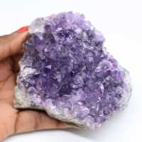 Natural crystallized amethyst