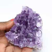Natural crystallization of amethyst