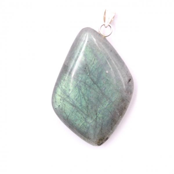 925 Sterling Silver Free Form Labradorite Pendant