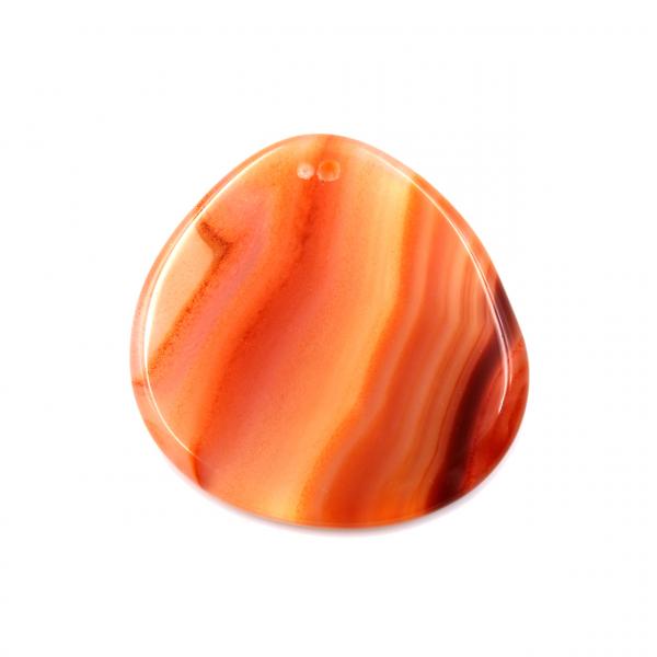 Free form orange agate pendant