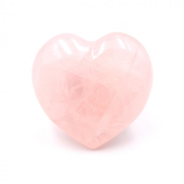 Rose quartz heart of Madagascar