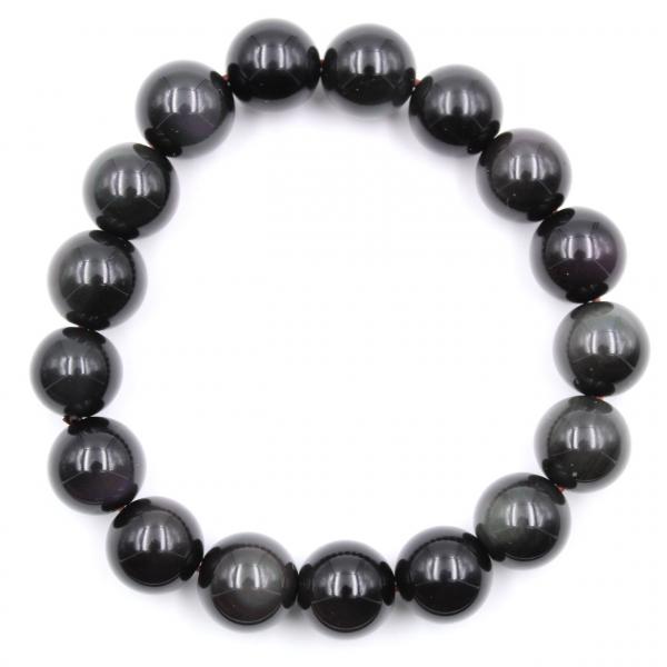 Obsidian bracelet 12 mm