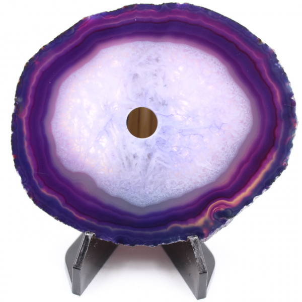 Polished and pierced agate from Brazil