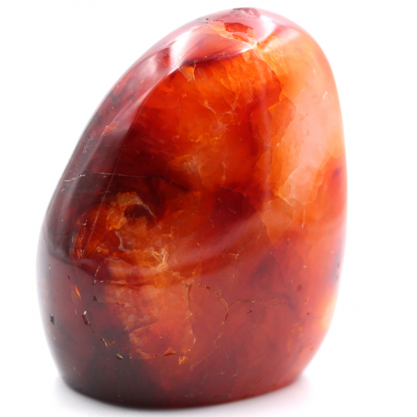 Fully Polished Freeform Carnelian Stone