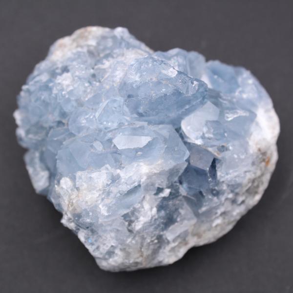 Blue celestite crystals