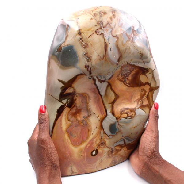 Large block of printed jasper 10 kilo, ornamental stone