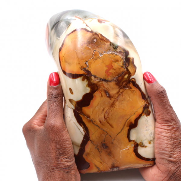 Polished freeform printed jasper 3.8 kilo