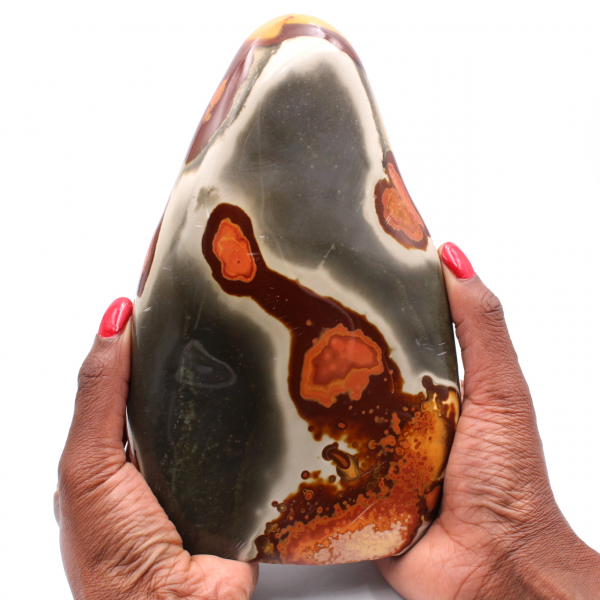 Printed jasper, free form of ornament