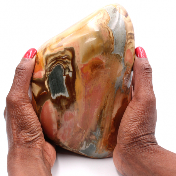 Printed jasper, large ornamental polished stone weighing 4 kilo