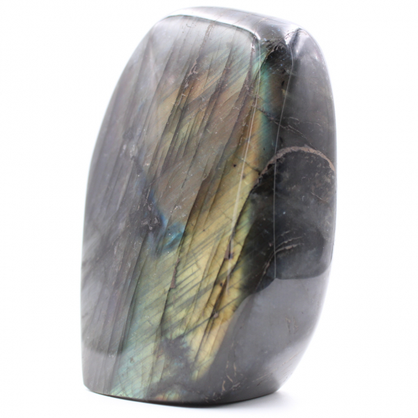 Purple yellow labradorite ornament stone