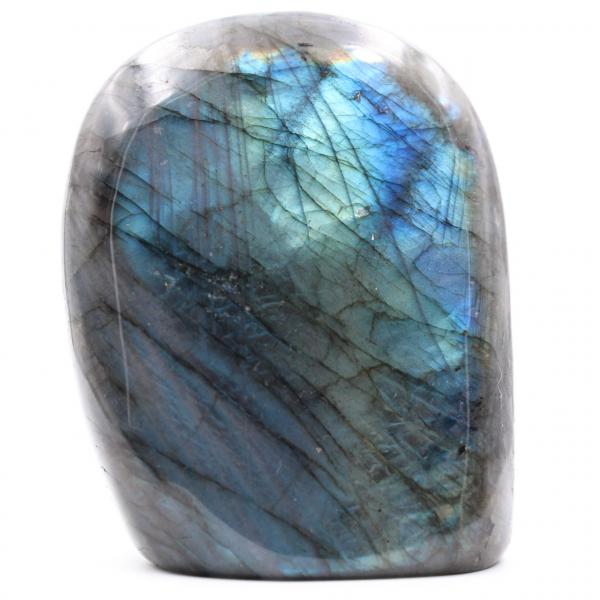 Blue labradorite stone block