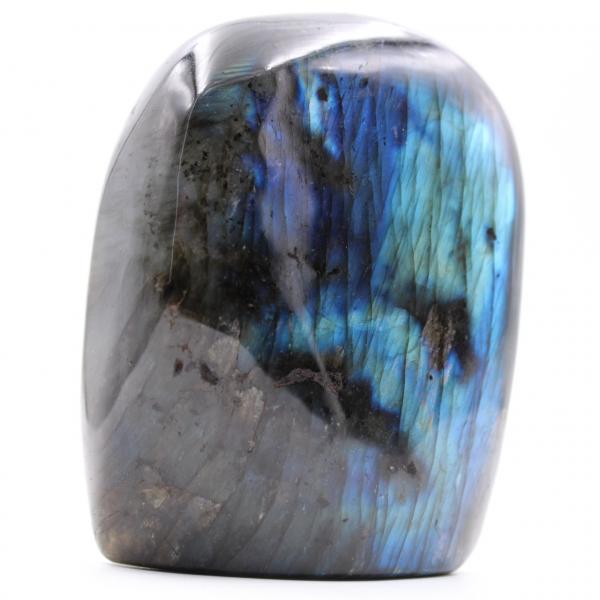 Bluish freeform labradorite stone