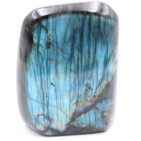 Blue labradorite decorative polished shape