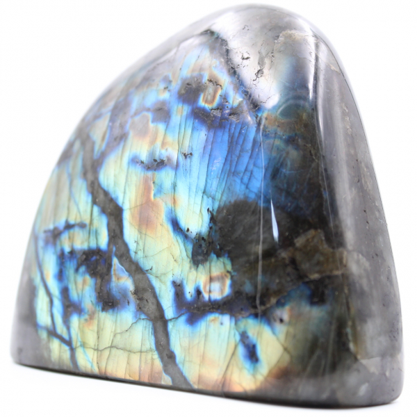Fully polished multicolored labradorite for decoration