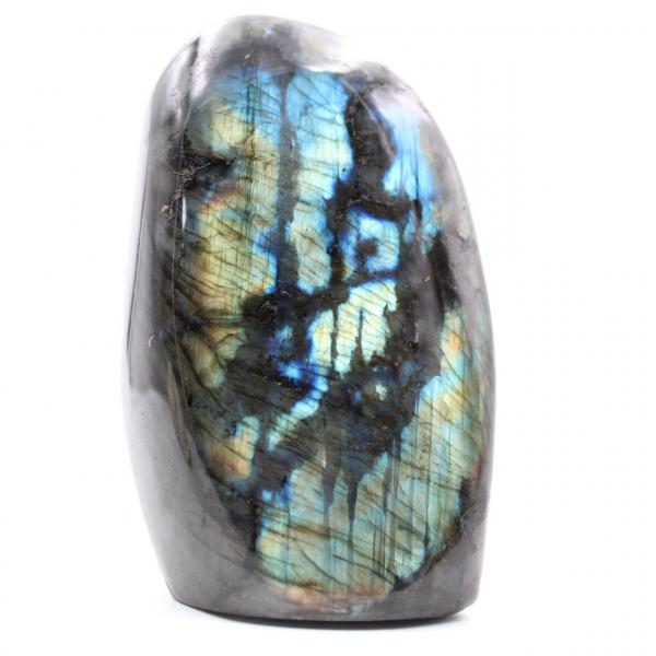Multicolored labradorite ornament stone