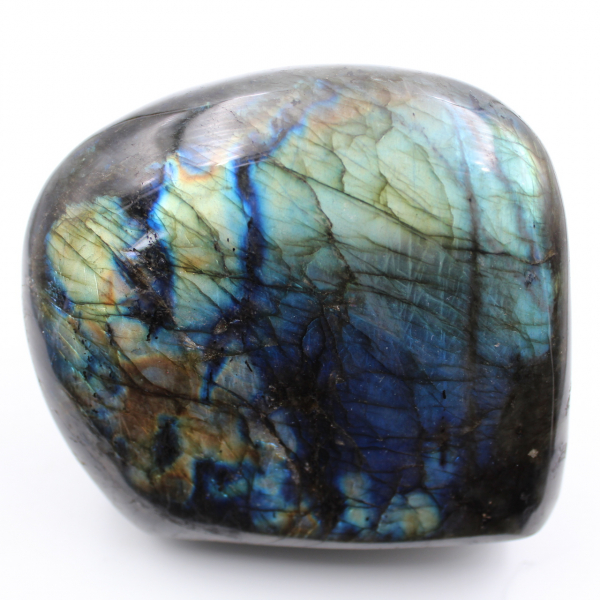 Decorative stone, polished labradorite
