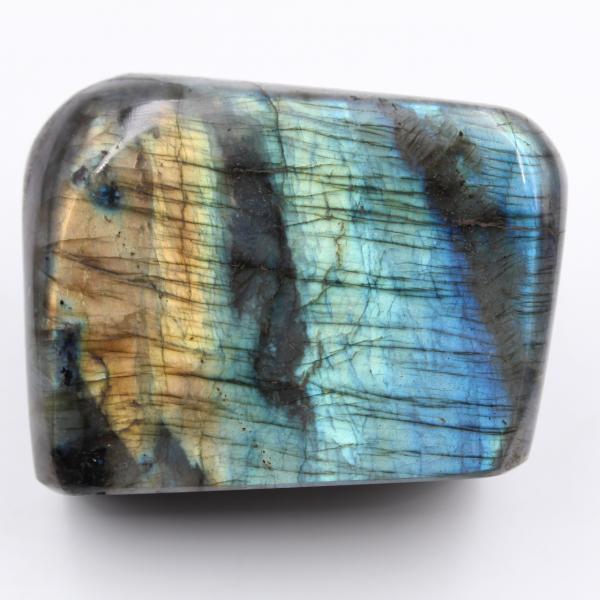 Labradorite block polished blue green