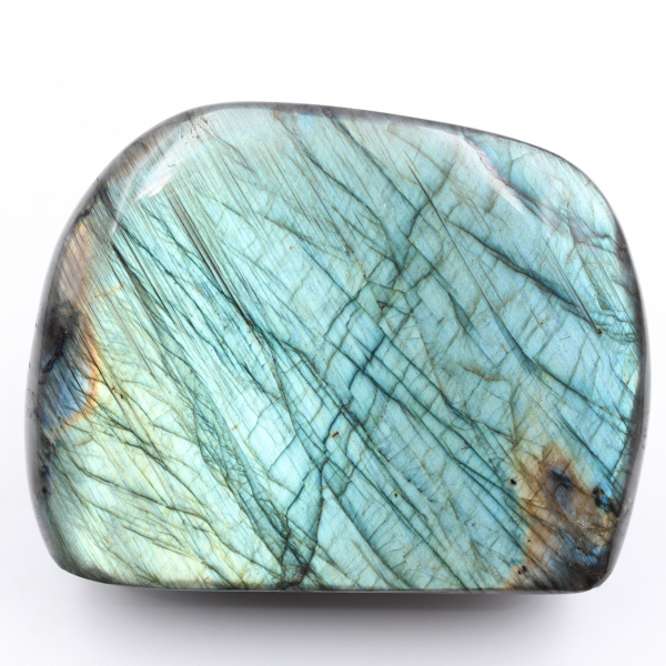 Blue labradorite fully polished block fully colored face