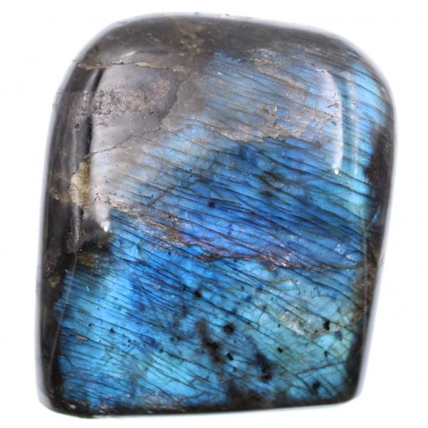 Blue colored labradorite block