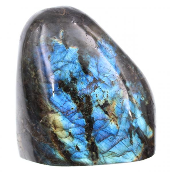 Polished shape blue labradorite stone