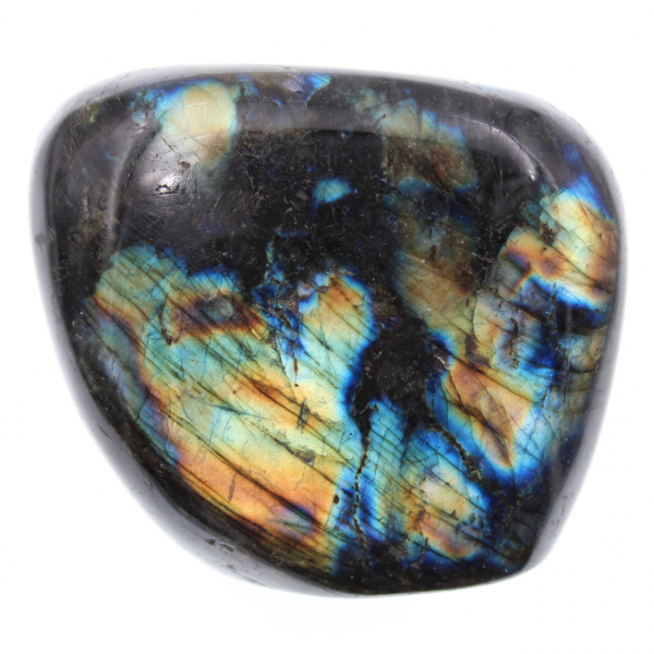 Multicolored labradorite stone for ornament