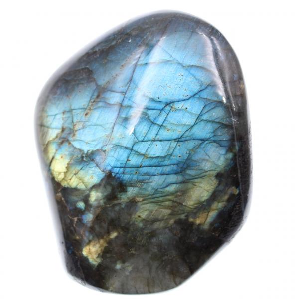 Labradorite decoration stone, blue reflections