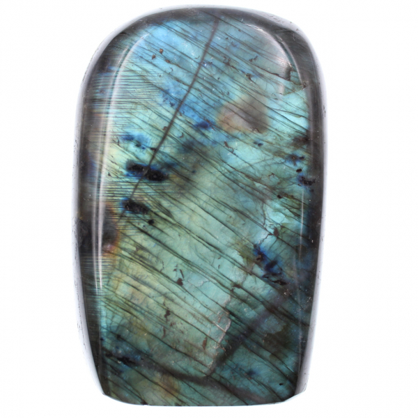 Blue labradorite stone for ornament and decoration